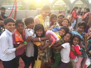 Geetanjali with the Nizamuddin kids