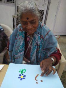 Rita aunty paints flowers