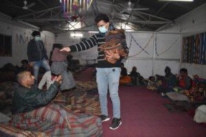 Distributing mufflers to the needy