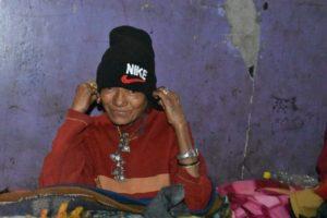 Warm cap for an elderly woman