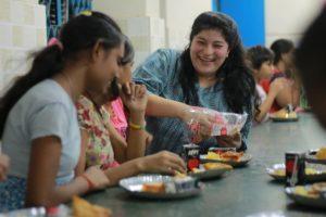 Naina with beneficiaries