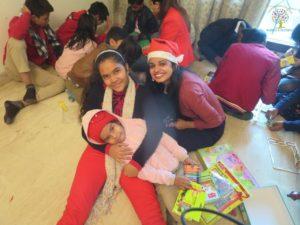 Riya with children