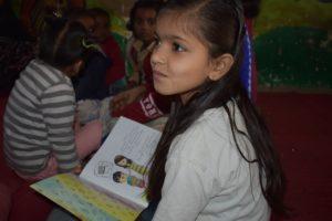 Sakshi reading out loud